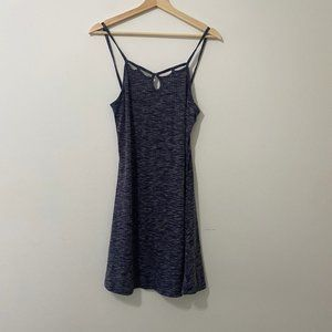 Sadie & Sage Strappy Blue Ribbed Dress Size Small